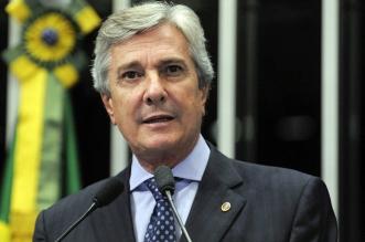Em discurso na tribuna do Senado, senador Fernando Collor (PTB-AL).  Moreira Mariz/Agência Senado